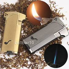 Jobon Metal Jet Double Flame Cigarette Cigar Smoking Pipe Butane Gas Lighter