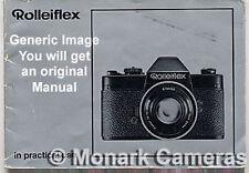 Rollei sound XL 8 macro cine camera instruction manual, plus de livres 8mm énumérés