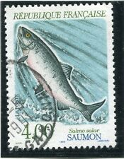 STAMP / TIMBRE FRANCE OBLITERE N° 2665 POISSON FAUNE SAUMON