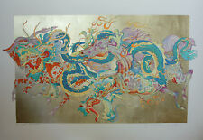 L'annee du Dragon by GUILLAUME AZOULAY Hand Signed Limited Serigraph! Very Rare!