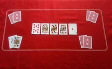 Rosso Poker Feltro Panno Verde - Texas contenere 'em - Nuovo Svendita