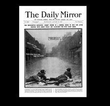 Dollshouse Miniature Newspaper - The Daily Mirror 1911 - Siege of Sidney Street