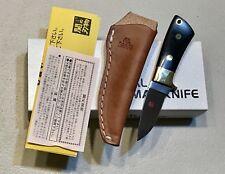 Vintage 1980' Al Mar Seki Japan Usa Rat1 Dagger Knife Micarta Box Papers Mint