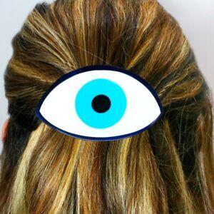 Sobral Udyat Eye of Horus Egyptian Inspired Artist Made Hair Clip Barrette