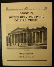1935 PROGRAM-SOUTHEASTERN ASSOCIATION OF FIRE CHIEFS, MACON, GEORGIA-RARE!!!!!!!