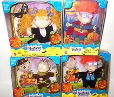 1998 Nickelodeon Rugrats Chuckie Angelica Tommy Halloween Figure Mattel LOT MISB