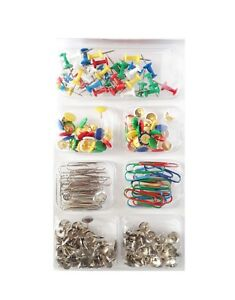 Home & Office Supplies Pins Mix Coloured & Plain Paper Clips Assorted Set UK