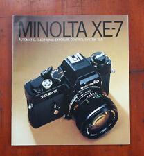 MINOLTA XE-7 SALES BROCHURE, 412E-A1/213945