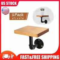 Industrial Wall Mounted Iron Pipe Shelf Bracket Floating Shelf Holder Board DIY