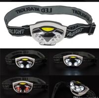 Headtorch With 4 White Leds And 2 Red Night Vision Running/ Sports + Batteries