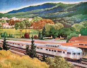 1948 Print Ad Budd Rail Cars Chesapeake-Ohio Blue Ridge & Appalachian Mountains