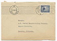 Germany Scott #C59 on Cover Hamburg to Illinois USA September 9, 1938