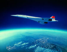 CONCORDE FLYING OVER CURVATURE OF THE EARTH 16X12 SIGNED PHOTOGRAPH SUPERSONIC