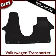 VW Transporter T5 Doble Asiento del pasajero 2003-2015 Gris a Medida Alfombra Mat