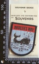 VINTAGE WHALERS WAY PORT LINCOLN EMBROIDERED SOUVENIR PATCH WOVEN SEW-ON BADGE