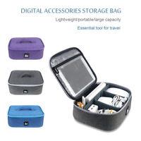 IKSNAIL Electronics Accessories Organizer Travel Storage Hand Bag Cable USB Case