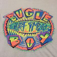 Vintage Bugle Boy Medium T-shirt Soft Surf Sail Boat Beach Sunset Skateboard