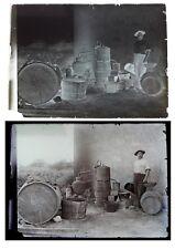 Photo plaque verre 13x18 cm / distillerie artisanale - Vigneron vin métiers 1890