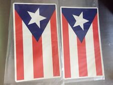 """TWO Puerto Rico Rican Flags Fridge  Magnet - Large  7"""" x 4"""""""