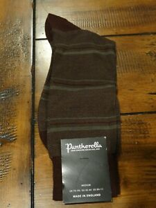 NWT Pantherella Mens Maroon Merino Wool Dress Socks Med England $30