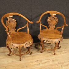 Pair Of Armchairs Chinese Oriental Furniture Chairs Wooden Exotic Antique Style