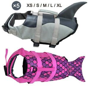 Pet Dog Life Jacket Swimming Safety Vest Swimsuit + Pull Handle Lifesaver