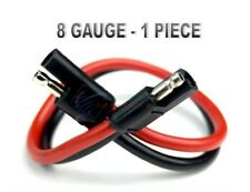 """8 GA 12"""" QUICK DISCONNECT POLARIZED INLINE POWER CABLE WIRE HARNESS AUTO INSTALL"""