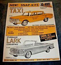 Johan dealer hobbystore sales color 81/2 x 11 adsheet 62 Studebaker Rambler Taxi