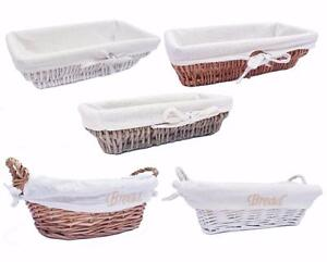 Full Willow Wicker Strong Bread Fruit Wicker Storage Basket Xmas Hamper Basket
