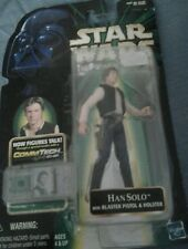 Star Wars power of the force Han Solo with blaster pistol & holster