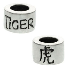 Sterling Silver Chinese Zodiac Year of The TIGER European Style Bead Charm