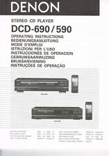 Denon DCD-590 CD Player Owners Manual