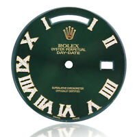 Custom Rolex Green Dial Roman Numeral w/ Diamonds 40mm for Day-Date 228238