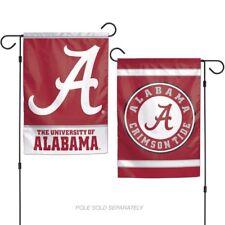 "Brand New NCAA  Alabama Crimson Tide 2 Sided 12.5 "" X 18"" Garden Flag Wincraft"
