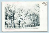 Smyrna, DE - VERY SCARCE 1906 WINTER GREETINGS POSTCARD - LAKE COMO - R1