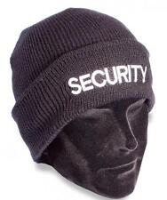Protec knitted security beanie hat door supervisor and manned guarding