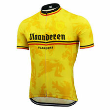 Flanders Yellow Short Sleeve Cycling Jersey Free Shipping