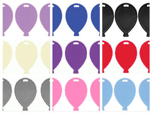 10 Plastic Balloon Shape Weights Pink Blue White Lilac Black Silver Rose Gold