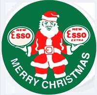 ESSO Santa Christmas Oil gasoline vintage Style  round sign