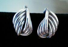 """Sterling Silver - Love Knot 5.7g - Post Earrings Beautiful 1"""" long"""