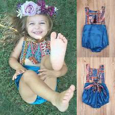 Retro Toddler Baby Girl Kid Bodysuit Romper Jumpsuit Sunsuit Outfit Clothes 1-2T
