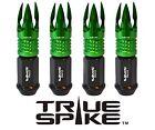 16 True Spike 89Mm 12X15 Forged Steel Lug Nuts W Green Poseidon Spike Tips D
