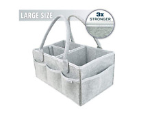 Diaper Caddy for Laundry Basket and Nursery Storage Bin | Portable Backseat Car
