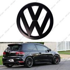 VW VOLKSWAGEN GOLF Mk5 V POSTERIORE NERO MATT BADGE LOGO Boot POSTERIORE GTI Emblema 11cm