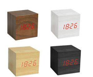 Sveglia orologio digitale in legno con display led con data ora temperatura 1293