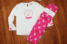 NWT GIRLS GYMBOREE SZ 18-24 MONTHS SHIRT, LEGGINGS CHEERY ALL THE WAY