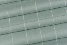1.85m Laura Ashley 'Elmore Check' in Duck Egg FR Upholstery Fabric