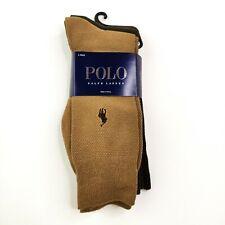 NWT POLO RL 3 dk green//brown//lt brown wool dress socks sz 10-13 shoe sz 6-12 1//2