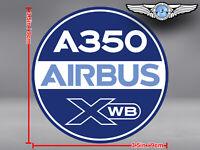 AIRBUS A350 A 350 XWB ROUND LOGO DECAL / STICKER
