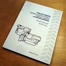 Volvo Penta AQD40A AQAD40A MD40A TMD40A TAMD40A Engine Unit Service Book Manual